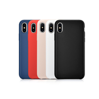 Solid Color Silica Gel Case For Apple IPhone X Full Protect Matte Solf Touching Back Silica