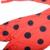 Los niños de La Muchacha de la Mariquita Cosplay Magia Mariquita Mameluco Del Traje Del Niño rojo y Negro Polka Dots Zentai con la Máscara de Ojo de La Cintura bolsillo