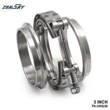 TANSKY-2013 Actualizado 3 pulgadas Auto Parts v-banda de la abrazadera Universal kit de Turbo, tubos de escape TK-VKG30