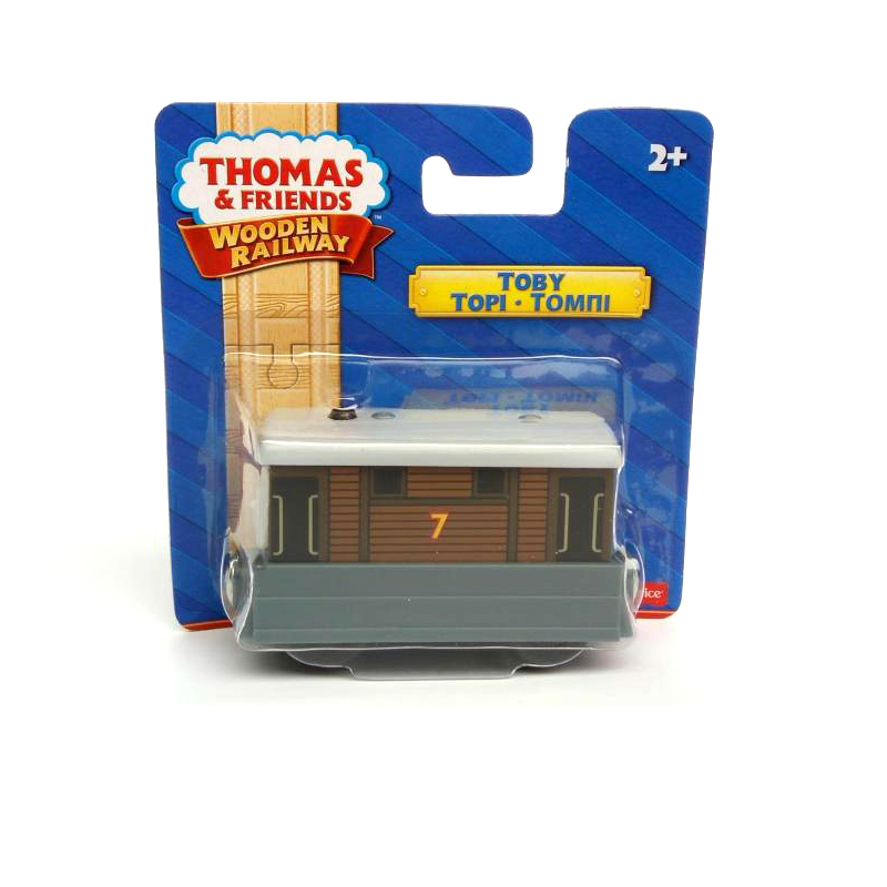 w107 תומס וחברים קטר מגנטי מעץ TOBY ילדים - צעצוע כלי רכב