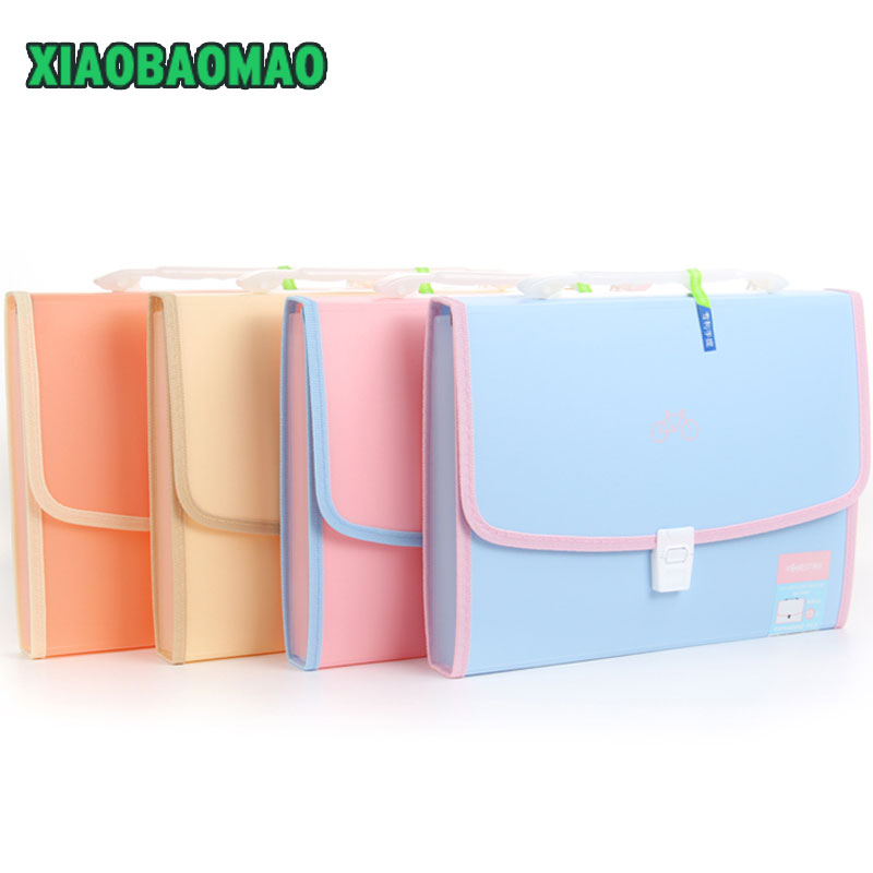 expanding file folder a4 Expandable 13 Layers Document File Folders Bags for Office and School Exam office file folders bag coloffice 1pcs cartoon cute flamingo filing production 20 sheets expanding folder multi function clip file document file folders