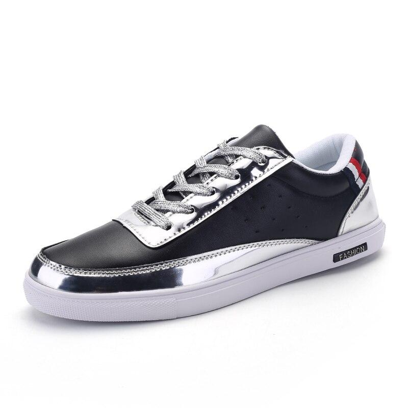 Prix pour 2017 Hommes Sneakers Planche À Roulettes Semelle En Caoutchouc Hommes Populaires Sneakers Nouvelle Tendance Mâle Marche En Plein Air Sport Chaussures Noir Skate Board Chaussures