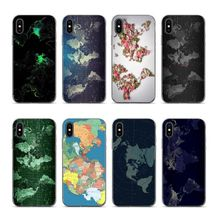 Aiboduo world map For iphone 8plus Soft silicone coque Cover case for iPhone 5s 5 8 7 6 6S Plus X XS XR XSmax 7plus