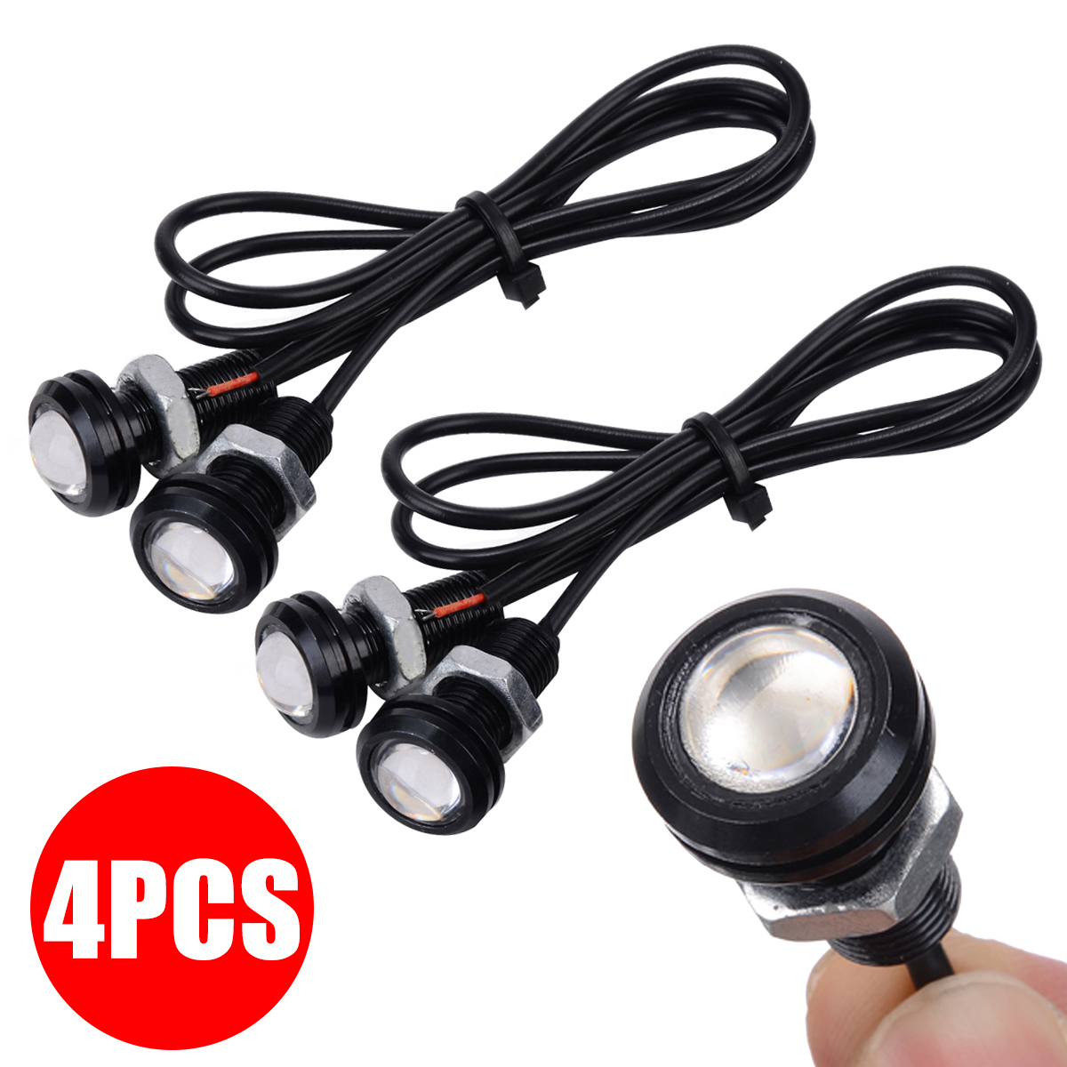 4Pcs/Set Blue LED Boat Plug Light Waterproof Marine Underwater Fish Boat Light Parts Accessories Universal