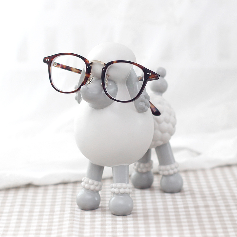 Dog Animal Glasses Stand Resin Crafts Lovely Eyeglasses Sunglasses Stand Holder Rack Animal Home Decor Best Gift