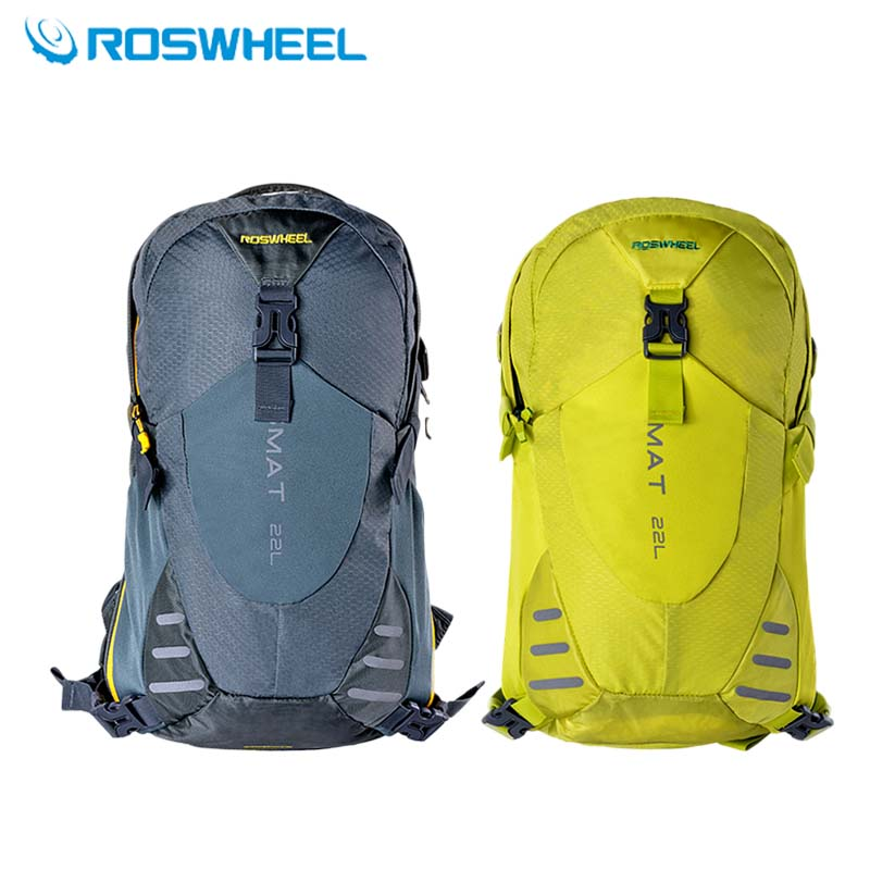 ROSWHEEL Outdoor Sports Bag 2017 Cycling Backpack Men Women Camping Hiking Travel Bag With Rain Cover Climbing Rucksack 18+4L
