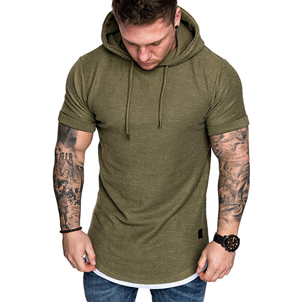 ALI shop ...  ... 33014666507 ... 4 ... TShirts Men's Summer Slim Fit Casual Pattern Large Size Short Sleeve Hoodie Top Blouse Casual Men Fashion High Quality c0509 ...