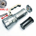 Rechargeable 4000LM CREE XM-L L2 LED Flashlight Torch Light Zoomable 3 Modes Waterproof lampe Torch Flash Lights For 3x18650