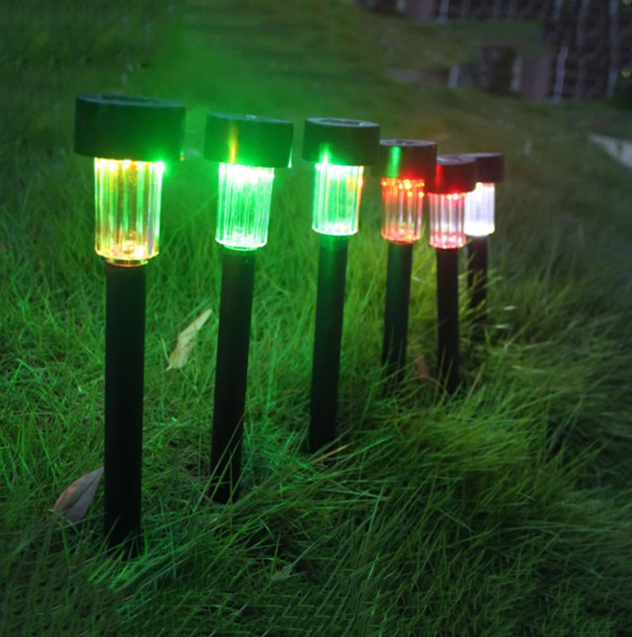 10pcs/Lot Solar Panel LED Spike Outdoor Lawn Or Garden Lights