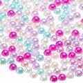 3000pcs Colorful Half Round Bead 4mm Imitation Pearl Flat Back Ornament for DIY Craft Scrapbook Album Dolls|Scrapbooking Sets|   -
