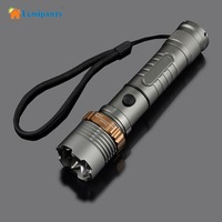 CREE XM L T6 LED Flashlight Self Defense Super Bright 5000LM Zoomable Focus Flashlight Tatica Torch