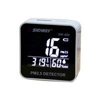 SW-825 цифровой Мониторинг качества воздуха PM2.5 детектор тестер газоанализатор Температура влажность счетчик диагностический инструмент