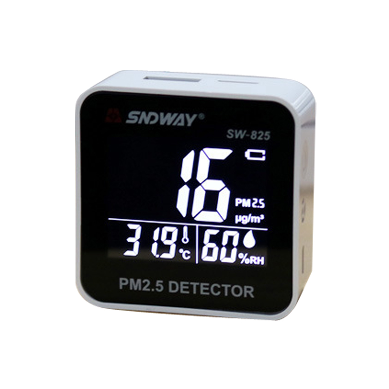 SW 825 Digital Air Quality Monitor PM2.5 Detector tester Gas monitor Gas analyzer Temperature humidity meter Diagnostic tool-in Gas Analyzers from Tools    1