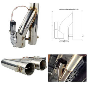 """VR- Universal Stainless Steel 304 2.5\"""" or 3\"""" Electric Exhaust Downpipe Cutout E-Cut Out Dual-Valve Remote Wireless VR-EMP86/87"""