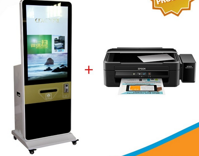 42 47'' 55'' 65 Inch stand alone LCD smart shopping mall wifi lcd display touch kiosk smart card machine
