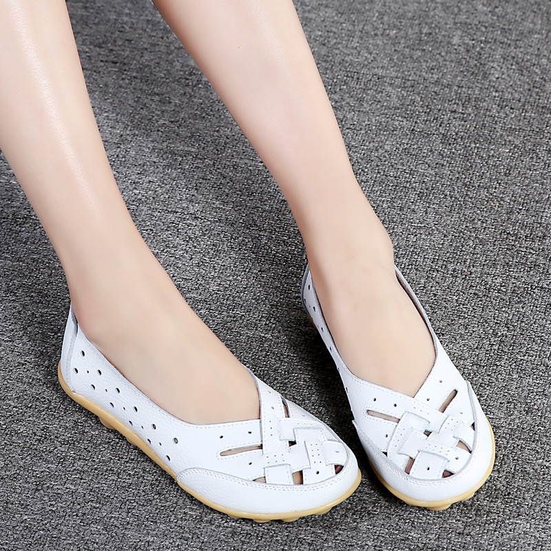 PINSV 7 Colors Flats Shoes Woman Loafers Black Summer Shoes Slip On Leather Shoes For Women Flats Zapatos Mujer Sapato Feminino lanshulan bling glitters slippers 2017 summer flip flops platform shoes woman creepers slip on flats casual wedges gold