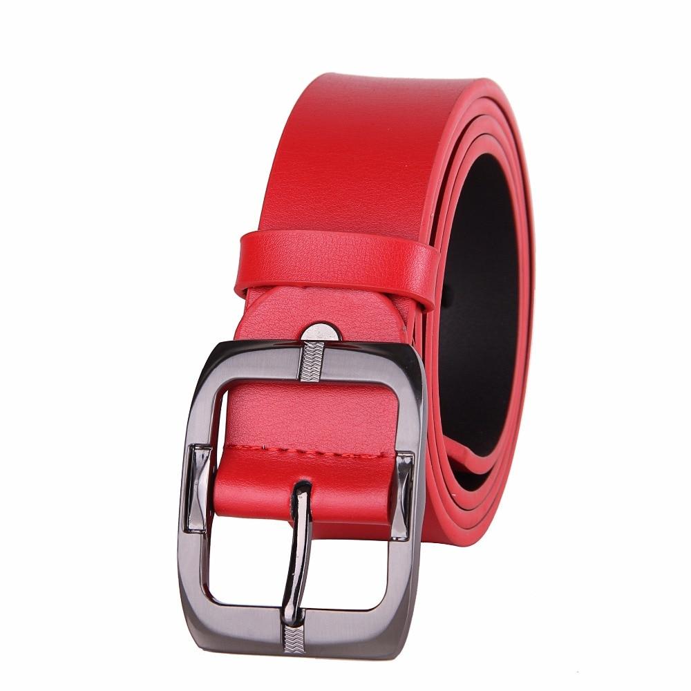 Nouveau 100% en cuir véritable femmes de luxe ceinture ceinture 3.3 cm large personnalité mode dame en cuir ceinture noir rouge café Jeans ceintures