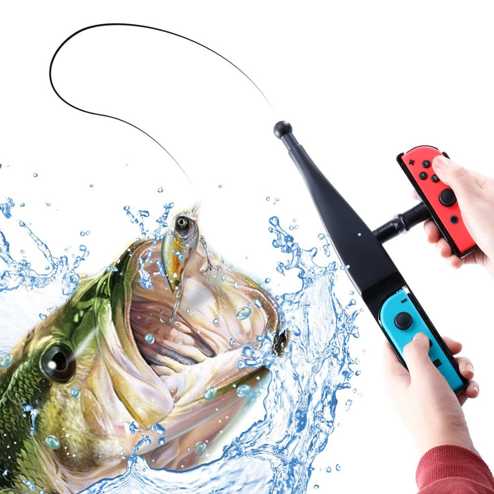 2019 New Version Fishing Rod for Nintend Switch Joy-Con Accessories Fishing Game Kit For Switch Joy-Con Console Controller Game
