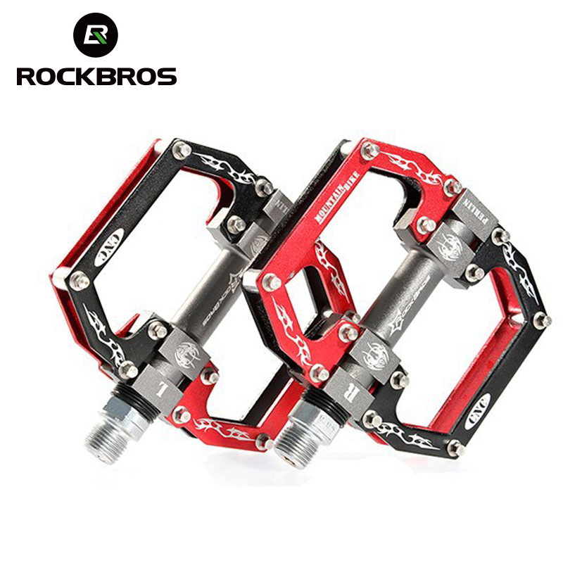 цена на ROCKBROS Ultralight Professional Hight Quality MTB Mountain BMX Bicycle Bike Pedals Cycling Sealed Bearing Pedals Pedal 5 Colors