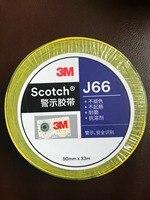 3M J66 желто-черная лента с логотипом, сигнальная лента, маркировка полосы, маркировка склада, маркировка пола