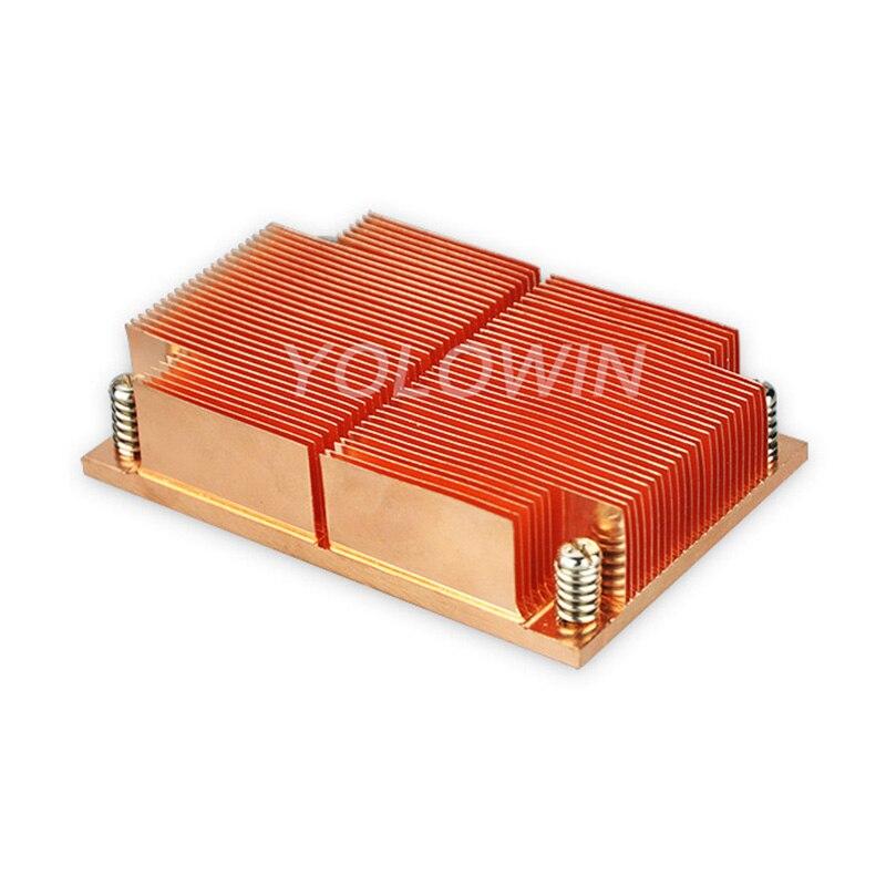 Electronics heat dissipation 100% New Passive CPU Copper skiving fin Heat Sink copper skiving fin Heat sink Radiator C9-01