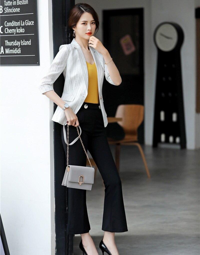 68d0cdd492bc Blazer Uniformi Affari Vestiti blazer Set Nuovo Mezza Con Bianco Ufficio Dei  2019 Donna Di Stili Signore Only Pantaloni Giacca E ...