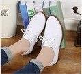 2017 Подлинных Женщин Кожа Плоские Туфли Новая Весна Осень босоножки Студенческие Повседневная Обувь Твердые Кожа Laides Мокасины Обувь