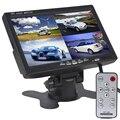 """2 шт. 7 """"Сплит Quad Видео Вход Дисплей + Автоматическая Входного Сигнала определить TFT ЖК-Подголовник Автомобиля Монитор Для Камеры Заднего Вида DVD GPS"""