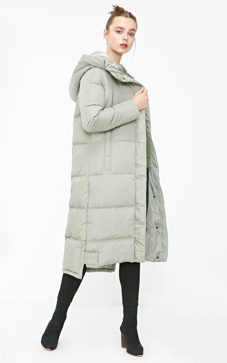 Vero Moda new detachable rabbit fur hooded long down jacket women   318312503 10