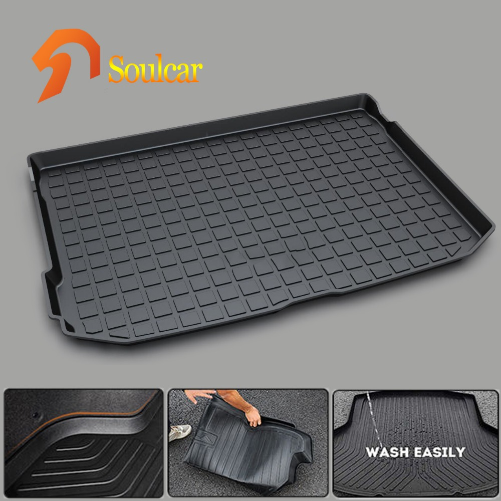 Rubber Rear Trunk Cover Cargo Liner Trunk Tray Floor Mats for AUDI A3 sedan hatchback 2014 2015 2016 2017 custom fit car trunk mats for nissan x trail fuga cefiro patrol y60 y61 p61 2008 2017 boot liner rear trunk cargo tray mats