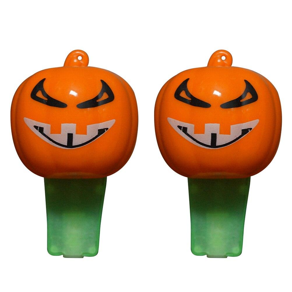 2 Stücke Kürbis Pfeife Halloween-party Requisiten Gefälligkeiten Liefert Dekoration Spielzeug Für Kinder Erwachsene (gelegentliche Farbe)