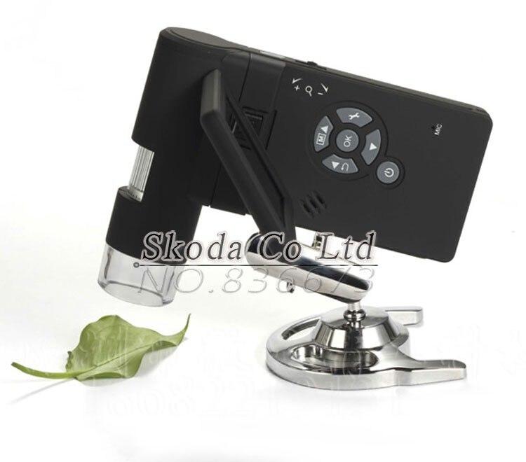 """5 М пикселей 3,"""" ЖК-дисплей Ручной цифровой микроскоп 1-500X 8 светодиодный AVI выход Поддержка Micro SD карты"""