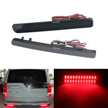 ANGRONG 2x LED Rear Bumper Tail Signal Light Black Smoked Lens For Rover Discovery 3 4 LR3 LR4