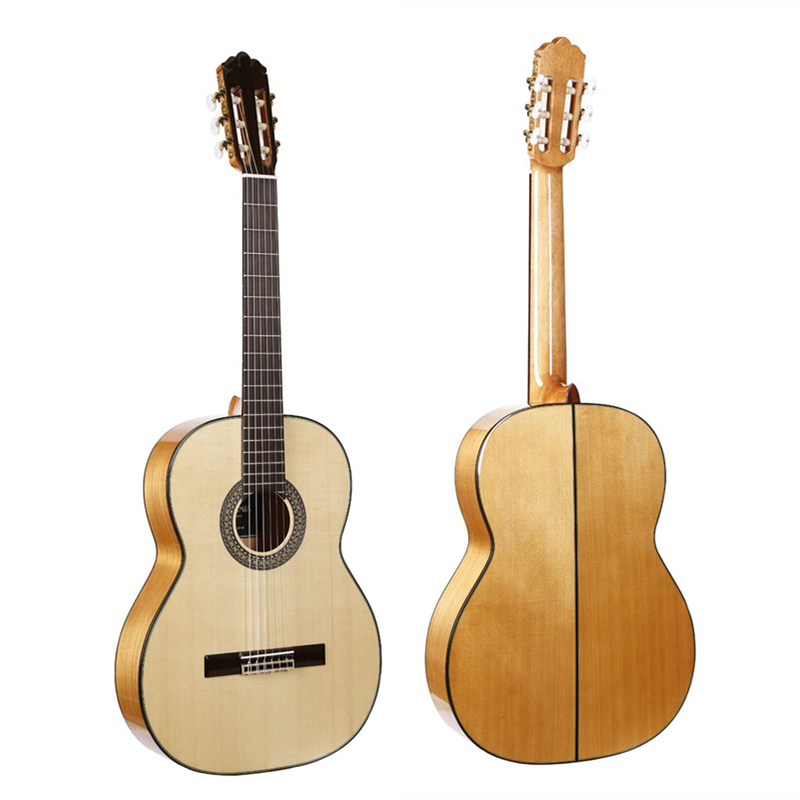 Handmade 39 inch Acoustic Flamenco guitar With Solid Spruce/Aguadze Body+STRINGS,Classical guitar AF65,2018 New arrival 39 inch handmade spanish guitar vendimia solid cedar rosewood acoustic guitarras strings classical guitar with nylon string