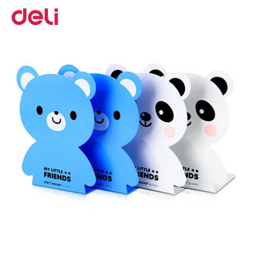 Deli Creative Cute Panda Fashion Bookends Cartoon Giraffe Book By Adults' Children's Book 2pieces A Lot 450g Heavey Bookends