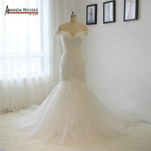 Amanda Chen Custom-made qualified wedding dress with
