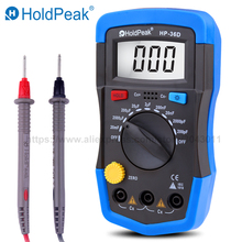 HoldPeak Digital Capacitance Meter Tester LCD Multimeter 0.1pF-20000uF With back light HP-36D holdpeak hp 990c smd digital insulation tester multimeter auto power off resistance capacitance power battery insulation tester