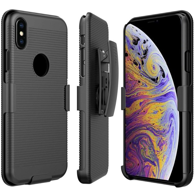the best attitude fd98e d6e87 US $3.95 6% OFF|Running Sport Waist Belt Clip Cover Skin Shell Phone Holder  Hard Back Case for iPhone XS MAX XR X 8 plus 7 6S 6 Plus 5S 5G 5-in Phone  ...