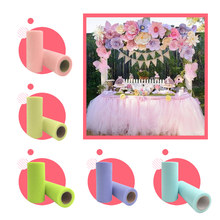 White Blue Tulle Pink Sheer Organza Fabric wedding decoration Roll 15cm 25 Yards rolls 25yd Tutu tablecloth skirt runner reel(China)