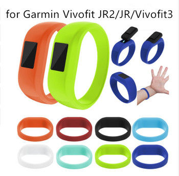50pcs New Arrival Wrist Band Soft Silicone Replacement Watchband For Garmin Vivofit JR JR 2 Smart WatchesVivofit 3 Watch Strap