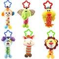 Crib Tinkle Hand Bell Hanging Baby Rattle Pram Toys Stroller Infant Baby Toys 0-12 Months Monkeys Lions Elephants Deer Dog Chick