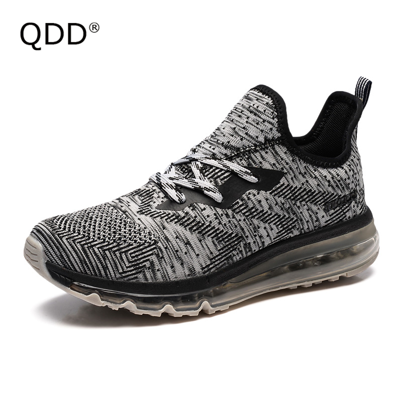 PREMIUM Quality Air Sole Wearable Lovers Running Shoes, Fly Knitting Breathable Fabric, Comfortable Men Running Shoes For Sale.