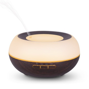 цена на Household 300ML Ultrasonic Humidifier Wood Grain Aromatherapy Essential Oil Diffuser Electric Difusor De Aroma For Yoga SPA
