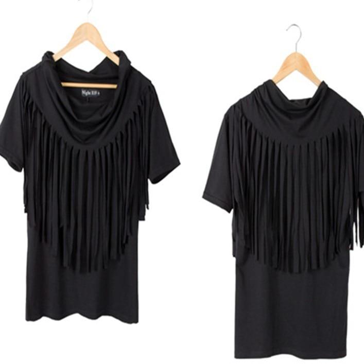 f70deb7db Metrosexual mostrar Camiseta personalidad de la moda Coreana al por mayor  Camiseta masculina borla T74 P65
