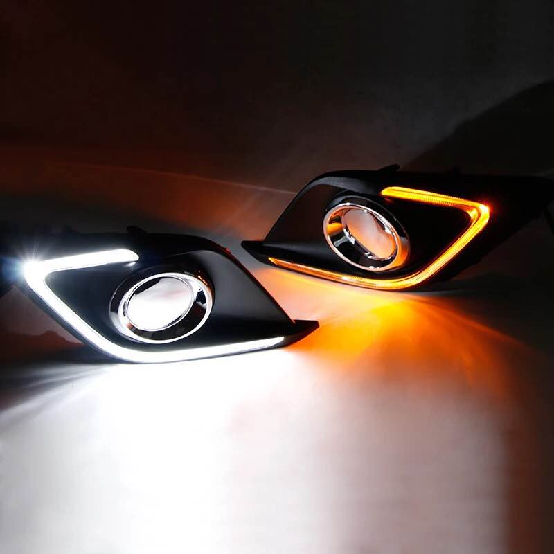 Image 3 - Car Flashing 2 Pcs DRL For Mazda 3 Mazda3 Axela 2014 2015 2016  LED DRL Daytime Running Lights with turn signal Fog light coverled  drldaytime runningdrl daytime running
