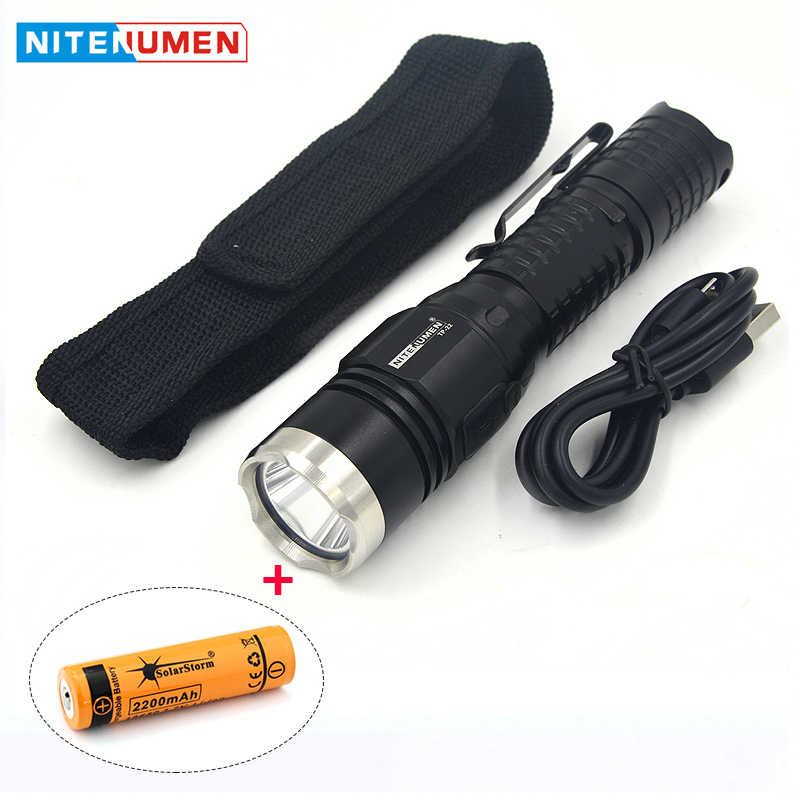 LED Torch Pocket Tactical Switch Strong Light Flashlight USB Rechargeable Waterpoof Outdoor Camping Hunting Lamp with Battery tactical led wrist watch flashlight torch light usb rechargeable outdoor camping
