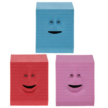 NEW Piggy Bank Kids Money Box Brick Face Bank Saving Sensor Facebank Face Coin Box Money