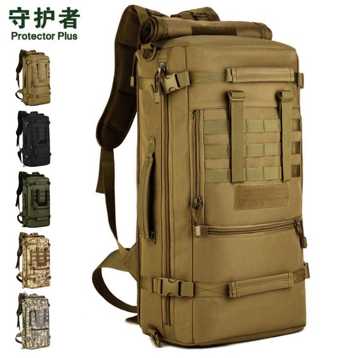 Sac à dos tactique militaire hommes randonnée en plein air Camping multi-fonction étanche en Nylon sac à dos de montagne 50L sacs de sport