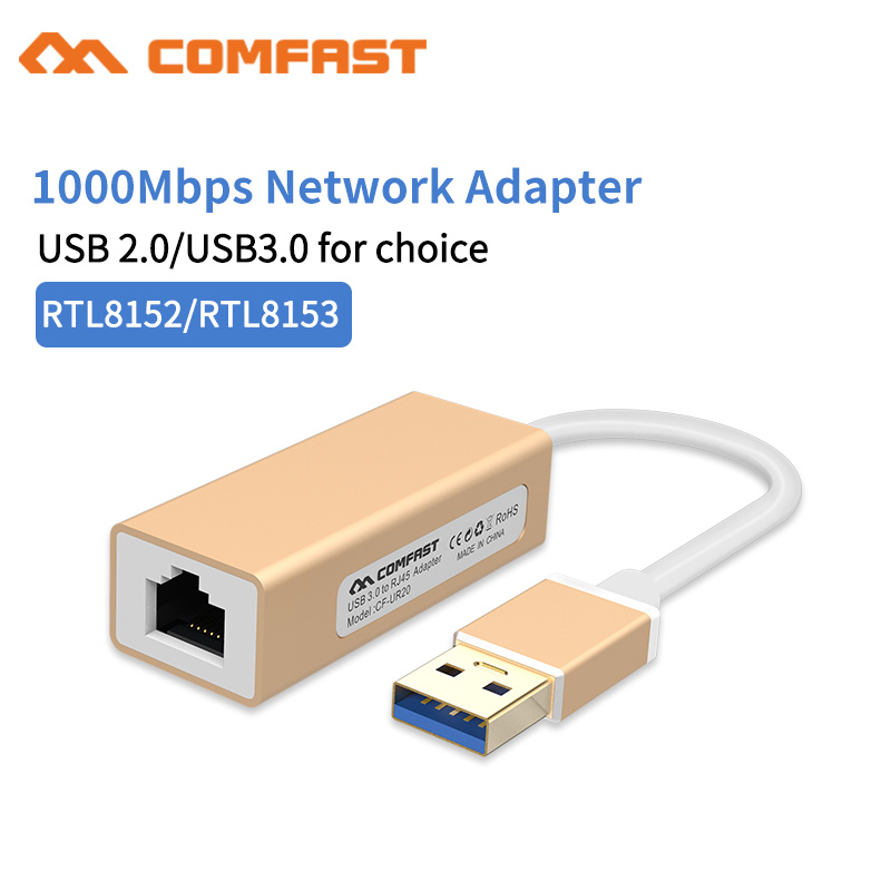 Comfast USB Ethernet Adapter USB 3.0 2.0 Gigabit Network Card to RJ45 Lan Network for Windows 10 Xiaomi Mi Box 3 Ethernet USB wbtuo usb 3 0 to rj45 10 100 1000mbps gigabit lan ethernet network adapter card black