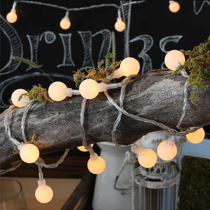4 m Guirlande Boules En Plein Air Jeu de Lumières LED lampe de Poche 20 Ampoules Luminaria blanc Chaud Lampe luces led décoration